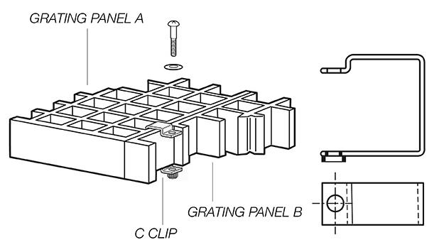 C Clip fiberglass