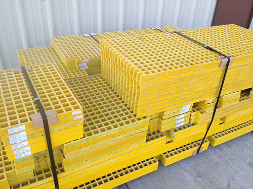 Fiberglass Grating Fabricating ready for shipmant