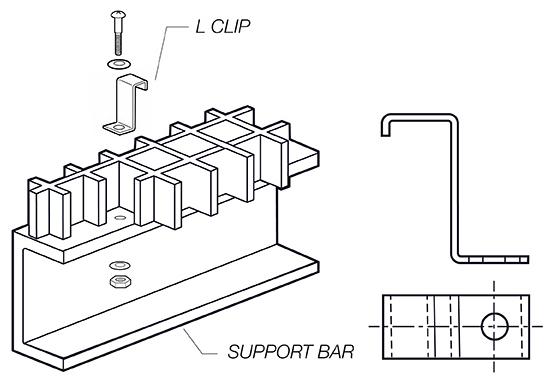 L Clip fiberglass