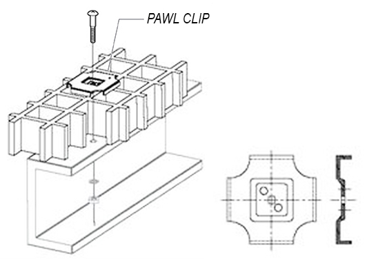 Pawl Clip fiberglass