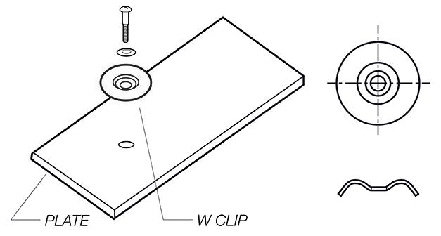 W Clip fiberglass
