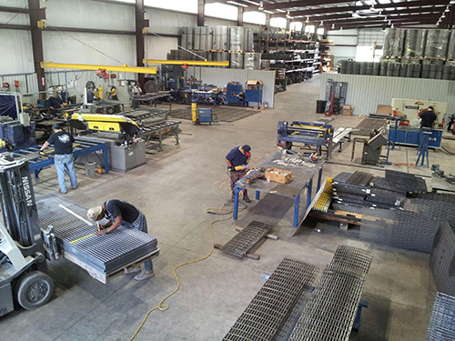 Fiberglass grating fabricating shop