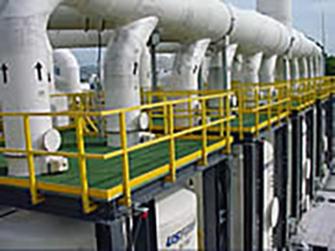 Structural Shapes fiberglass grating handrail 201007160232