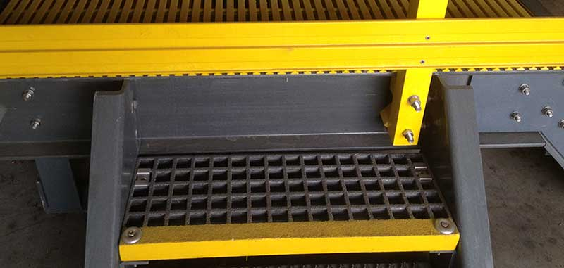 FRP Stair Tread Covers for Slippery Stairs
